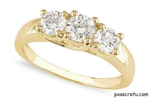 Золотое кольцо для девушки