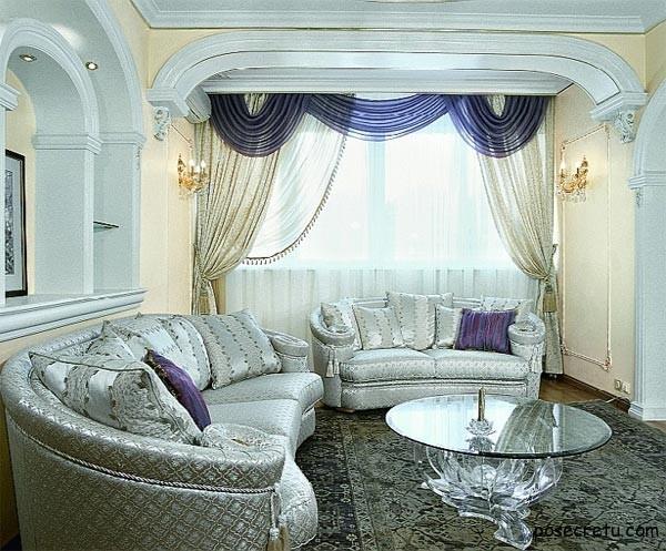 Какие шторы повесить в гостиной