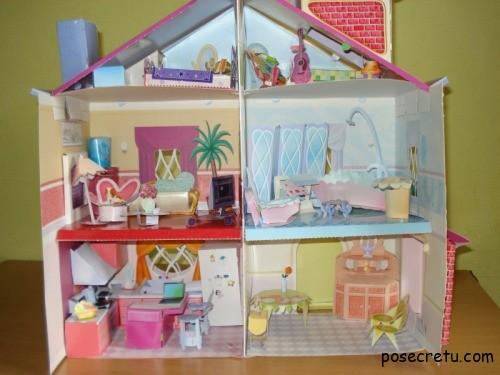Кукольный мебель своими руками из коробки