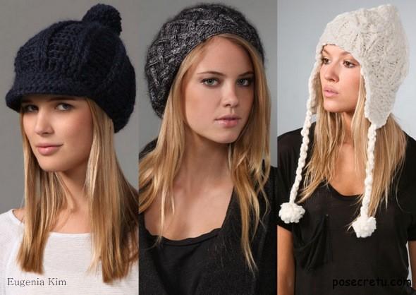 Модные вязаные шапки осень-зима 2014