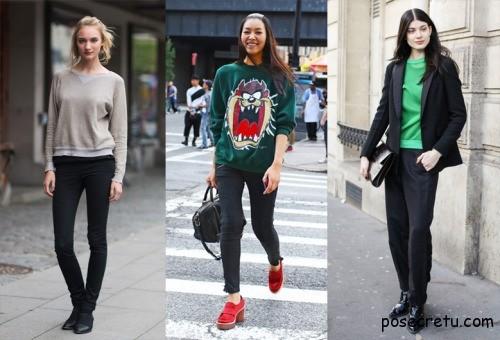 Модные женские свитшоты в 2015 году