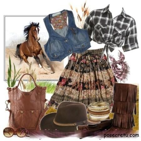 Модные юбки кантри будут пользоваться популярностью в 2013 году
