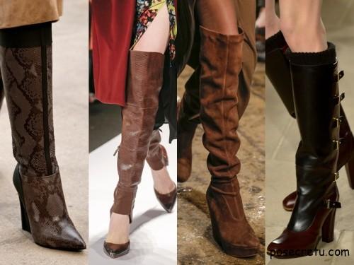 Модных тенденциях зимней женской обуви 2015 года