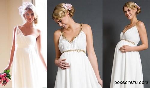 Неповторимые свадебные платья для беременных