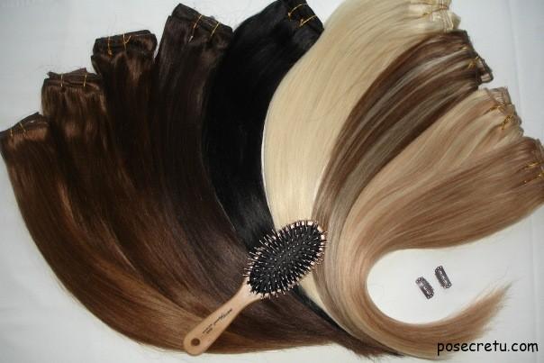 Отличие натуральных и искусственных волос на заколках