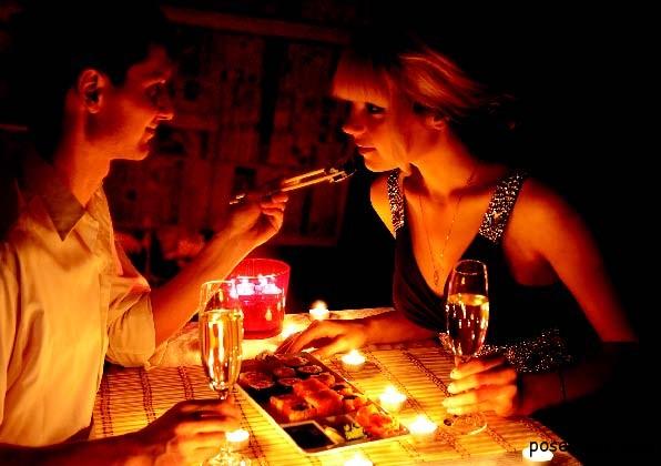Ужин при свечах полезен для здоровья