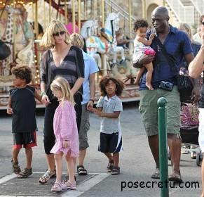 Хайди Клум с детьми