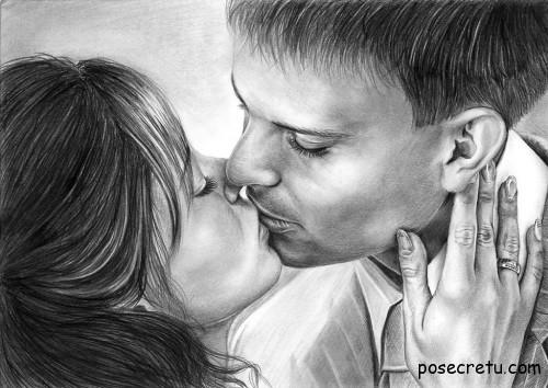влюблённые целуются