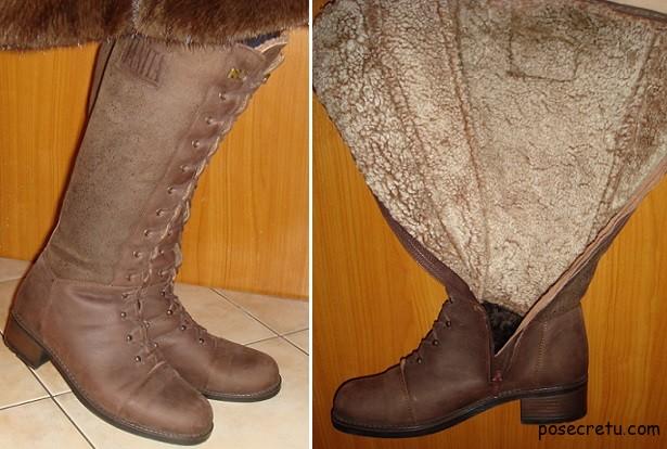 женская обувь из натуральной кожи и меха