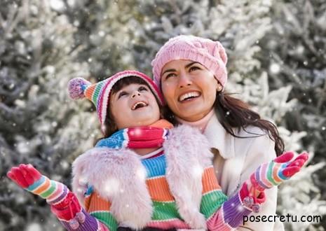 модная зимняя одежда для мам