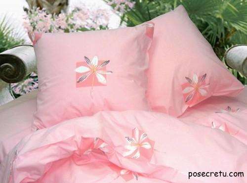 кпб из бязи розовый
