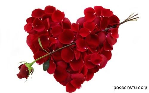 красные сердца на день влюблённых