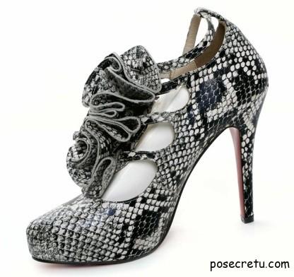 обувь со змеиной кожей