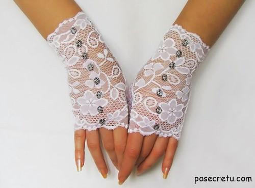 свадебные аксессуары перчатки