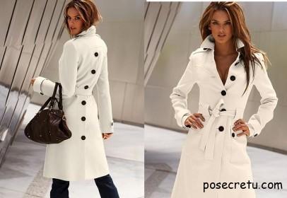 белое пальто - тренд весны