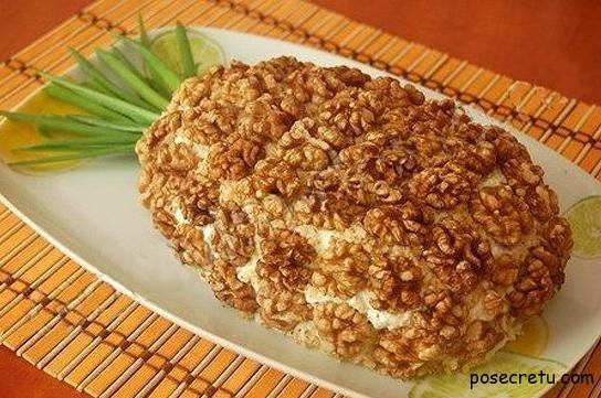 Рецепт слоеного салата курица с ананасами