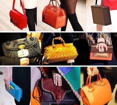 яркие цвета сумок