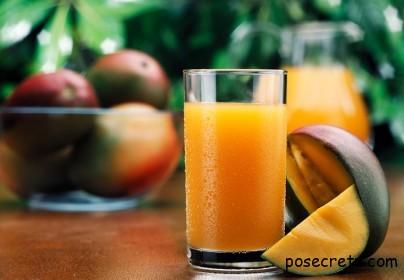 Сок манго - эликсир здоровья и долголетия