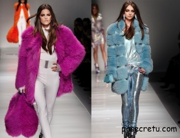 Зима 2012-2013: в моде цветной мех